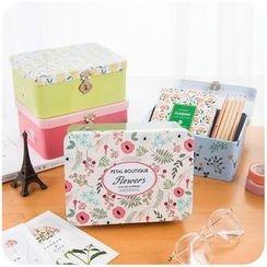 Momoi - Floral Print Storage Tin Box