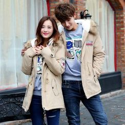 CASSY - Couple Matching Applique Parka