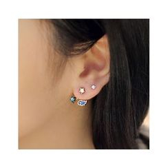 Gioia - Rhinestone Wings Asymmetric Earrings