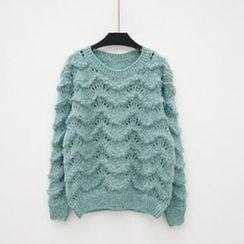 Polaris - 波浪纹毛线衫