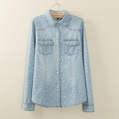 Tangi - Print Denim Shirt