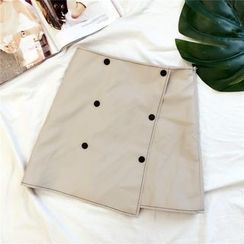 Honeydew - A-Line Faux Leather Skirt