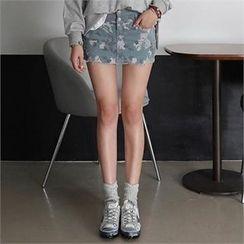 CHICFOX - Camouflage Mini Skirt
