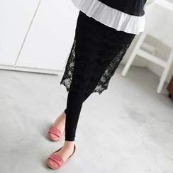 59 Seconds - Inset Lace Pencil Skirt Leggings