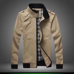 Alvicio - Mandarin Collar Zip Jacket