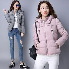 Labbara - Hooded Padded Zip Jacket