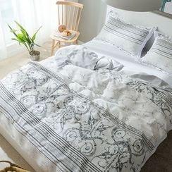 Miss Jane - Bedding Set: Printed Duvet Cover + Bet Sheet + Pillowcase