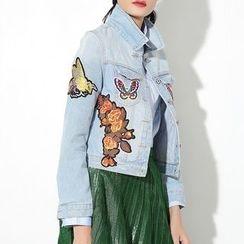 Ultra Modern - Patch Embroidered Denim Jacket