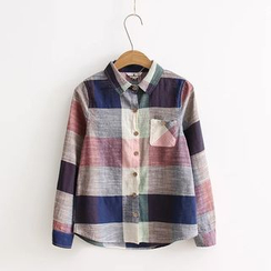Aigan - Long-Sleeve Plaid Shirt