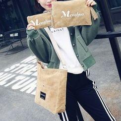 Sweet City - 套裝: 麂皮單肩包 + 小包 + 手拿包