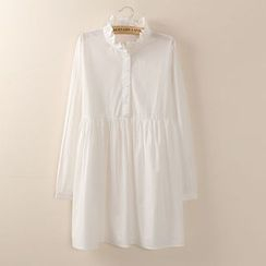 Tangi - Frill Collar Shirtdress