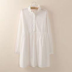 Tangi - 皱摺边领衬衫连衣裙