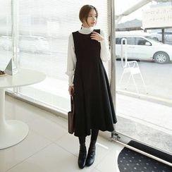 Seoul Fashion - Wool Blend Sleeveless A-Line Dress