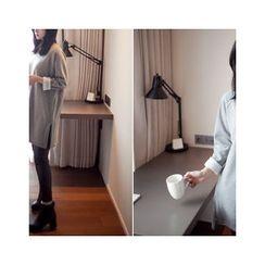 MASoeur - Raglan-Sleeve Brushed Fleece Lined Tunic