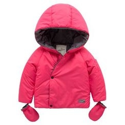 Kido - Kids Hooded Padded Jacket with Gloves