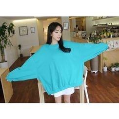 Envy Look - Puff-Sleeve Oversized Sweatshirt