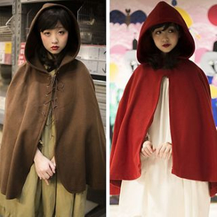 Rega - Lace Up Hooded Cape