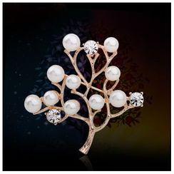 KINNO - 仿珍珠樹木胸針