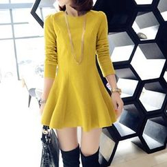 Fashion Street - Long-Sleeve A-Line Dress