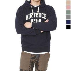 Seoul Homme - Hooded Lettering Sweatshirt