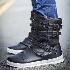 Rizmond - Faux Leather  Short Boots