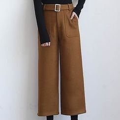 ELLY - Wool Blend Wide Leg Pants