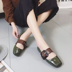 QQ Trend - 饰扣平底鞋