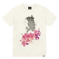 the shirts - Floral Girl Print T-Shirt
