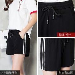 385Degrees - Striped Sports Shorts