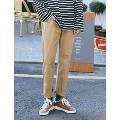STYLEMAN - Flat-Front Cotton Pants