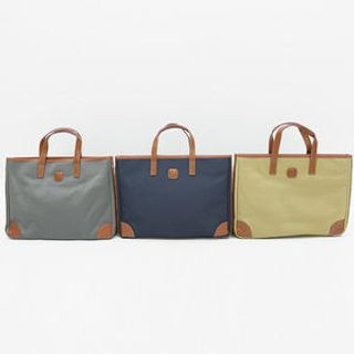BOOMSTYLE - Faux-Leather Trim Canvas Tote
