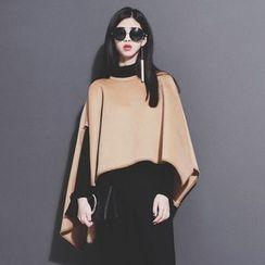 Sonne - Asymmetric Wool Cape Top