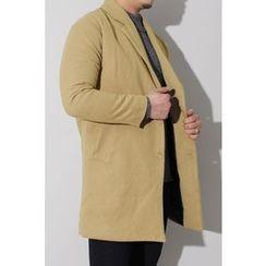 Ohkkage - Notch-Lapel Single Button Coat