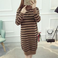 Dream Girl - Striped Midi Sweater Dress