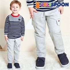 JELISPOON - Kids Drawstring-Waist Harem Pants