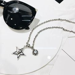 Ticoo - Star Rhinestone Pendant Necklace