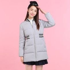 Pipafellow - Embroidered Padded Zip Coat