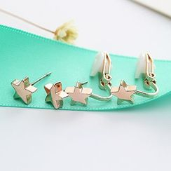 Oohlala! - Star Stud Earrings / Clip On Earrings