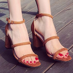 SouthBay Shoes - Chunky Heel Strappy Sandals