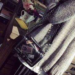 Pandabada - Applique Studded Chain-Strap Cross Bag