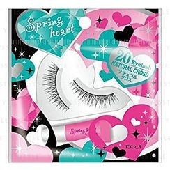 Koji - Spring Heart Eyelash (#20 Natural Cross)