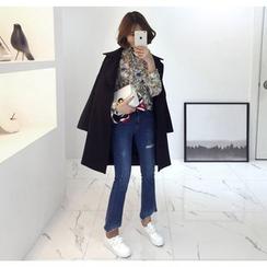 Miamasvin - Wide-Collar Single-Breasted Coat