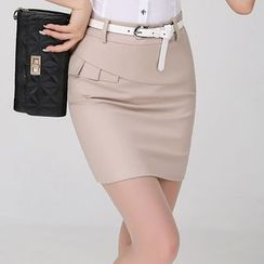 In the Mood - Panel Pencil Skirt