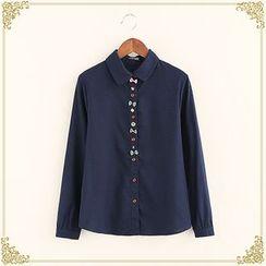 布衣天使 - 蝴蝶结衬衫