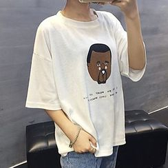Shimi - Print Crewneck T-Shirt