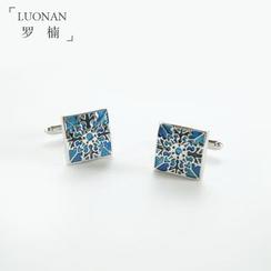 Luonan - Patterned Square Cufflinks