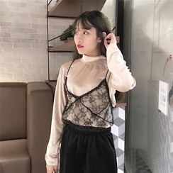 Fancy Show - Set: Top + Sleeveless Lace Top