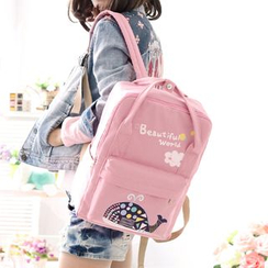 Canvas Love - Whale Print Backpack