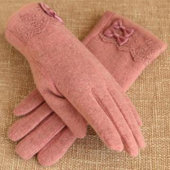 RGLT Scarves - Lace-Trim Wool-Blend Gloves