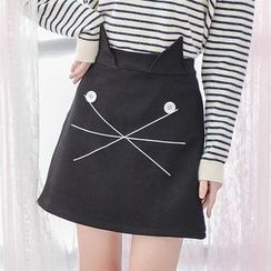 Moriville - Cat Ear A-Line Skirt